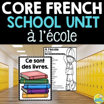 L'école:  Middle School French School Unit and Project