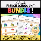 À l'école - French School Unit BUNDLE !!