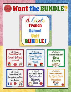 À l'école - French School Unit - My Ideal School Schedule