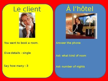 À l'hôtel / At the hotel / Booking a hotel room / Reserving a hotel room