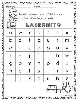A la Escuela  Hojas de trabajo. School Literacy Packet in Spanish.