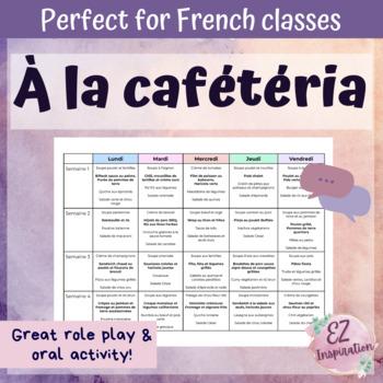 À la cafétéria (INTERACTIVE ACTIVITY)