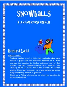 À la contractions Snowballs FRENCH