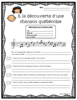 À la découverte d'une chanson québécoise