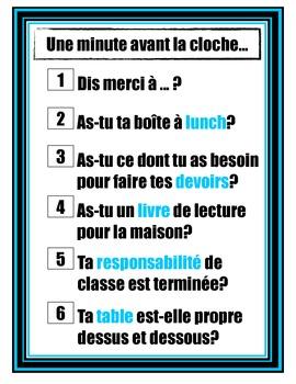 À la dernière minute en francais - in French
