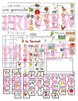 À la ferme! French farm vocabulary (Math, Music and Literacy activities)