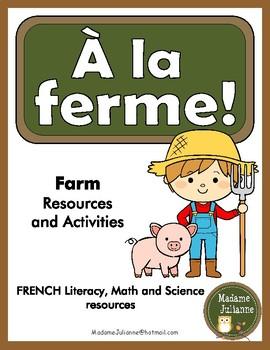 À la ferme! French farm vocabulary (Math, Music and Litera