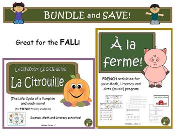 À la ferme et La Citrouille - Farm and Pumpkins BUNDLE: Fr