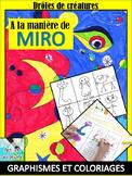 A la manière de MIRO - Graphismes et coloriages