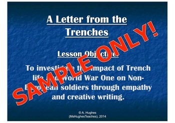 A letter from the trenches in WW1 - Soldiers from the Brit