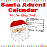 Santa Advent Calendar and writing Craft