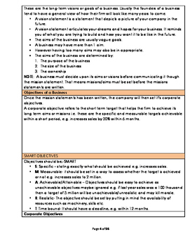 A level Business Studies Unit 3: Strategic Business Decisions(Full Notes)