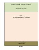 A level Business Studies Unit 3: Strategic Business Decisi