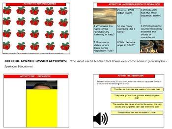 300 generic activities - create lessons in seconds