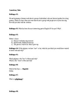 A list of Quick Bellringers #1