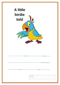 A little birdie told me certificates