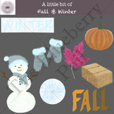 A little bit of Fall and Winter clip-art