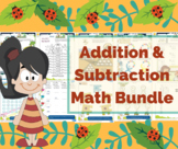 A little plus & minus - Addition and subtraction - worksheets