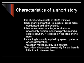 A look at the Short Story.
