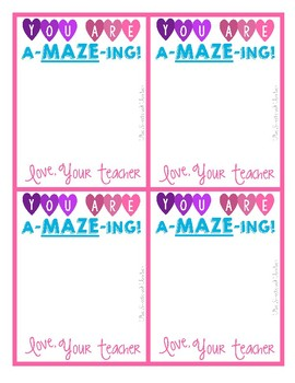 A-maze-ing Valentines - Printables and templates