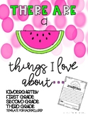 """A """"melon"""" things I love about.... Writing Page"""