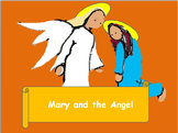 A modern Christmas carol The angel appears to Mary. Simple