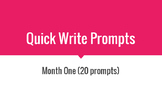 A month of Quick Writes 1