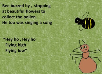 A musical minibeast story creating situations for learning and participating