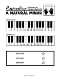 A natural minor Scale (One Octave) - Preparatory Technical