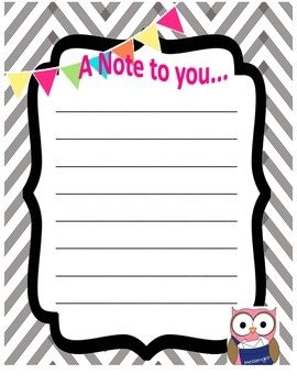 A note to you