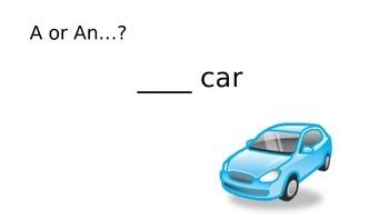 A or An?  Grammar lesson