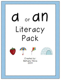 A or An Literacy Pack