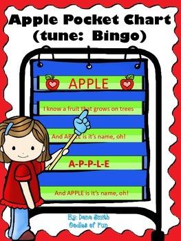 A-p-p-l-e Pocket Chart Song (tune:  Bingo)