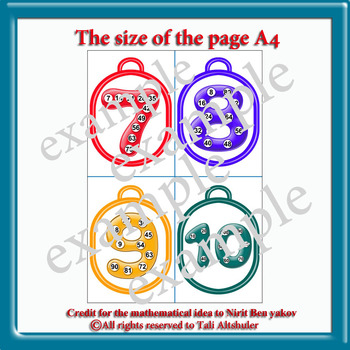 A personal kit for the student helps to study the multiplication table