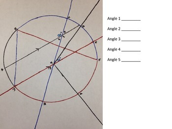 A picture is worth 1000 words- Angle relationships activity