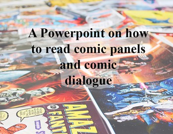 A powerpoint on how to read comics