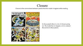 A powerpoint on time, closure, and encapsulation in comic panels