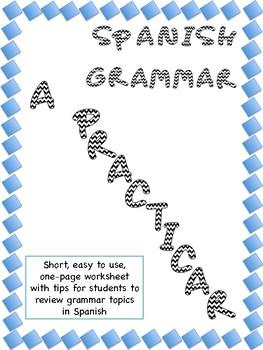 A practicar! Spanish Grammar. La hora y verbos que terminan en -AR y -ER