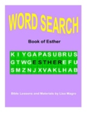 "A preview of the book of ""Esther"" Word Search with Answer"