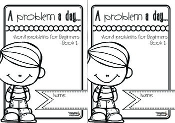 Word problems: A problem a day... Word problems for beginners Book 1