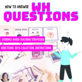 Answering Wh Questions Activity for Speech Therapy & Autism