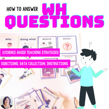 Answering Wh Questions Activity for Speech Therapy Autism