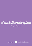 A quick Observation Game- to develop scanning, attention,