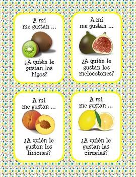 La comida - ¿A quién le gusta(n)...? (Frutas) - Question Chain Game