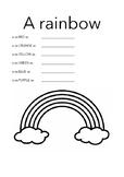 A rainbow...