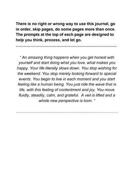 A reflection journal for teachers