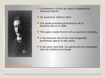 A Resource For The Opera La Boheme