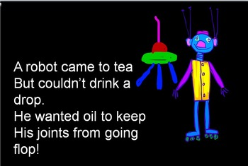 """""""A robot came to tea."""" Song with movement video"""