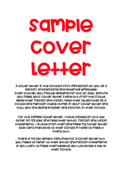 A sample cover letter for teaching abroad or at home.