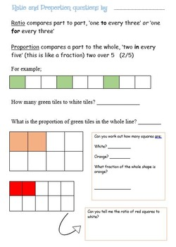 A selection of 3 differentiated Ratio and Proportion Worksheets.